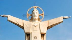 耶稣基督雕象 图库摄影