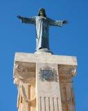 耶稣基督雕象Monte托罗登上的  库存照片