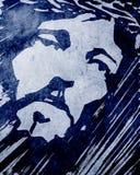 耶稣基督面对墨水手拉的例证 图库摄影