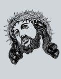 耶稣基督面对 库存照片