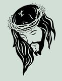耶稣基督面对 库存图片