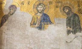 耶稣基督马赛克圣索非亚大教堂的 库存图片