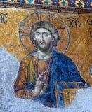 耶稣基督马赛克画象  图库摄影
