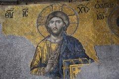 耶稣基督马赛克Hagia的索非亚,伊斯坦布尔 免版税库存图片