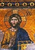 耶稣基督,圣索非亚大教堂,伊斯坦布尔,土耳其马赛克  图库摄影