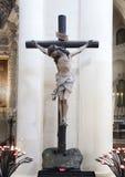 耶稣基督,大教堂二三塔Croce INRI雕象十字架的 免版税库存照片