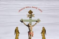 耶稣基督-救世 免版税库存照片