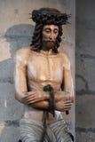 耶稣基督-里尔-法国的雕象 免版税图库摄影
