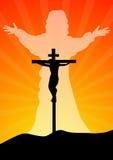 耶稣基督resurected 库存照片