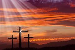 耶稣复活节十字架 免版税库存图片