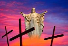 耶稣复活节背景 图库摄影