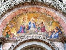 耶稣威尼斯式马赛克的复活 免版税图库摄影