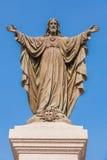 耶稣室外雕象  库存图片