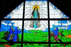 耶稣彩色玻璃  免版税库存图片