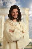 耶稣微笑 免版税图库摄影