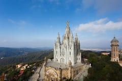 耶稣教会,巴塞罗那的耶稣圣心 免版税库存图片
