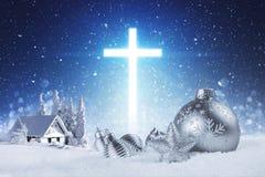 耶稣是季节的原因 免版税库存图片