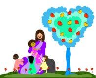 耶稣爱小孩 免版税库存照片图片