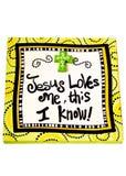 耶稣爱我 免版税图库摄影