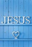 耶稣爱背景 免版税库存照片