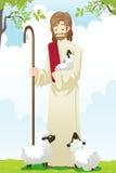 耶稣牧羊人 库存例证