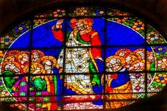 耶稣玛丽门徒彩色玻璃中央寺院大教堂佛罗伦萨Ital 库存照片