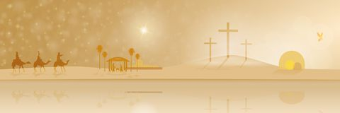 耶稣生活  库存例证