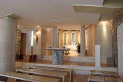 耶稣的保佑的玛丽的圣所在Blato,克罗地亚迫害了佩特科维奇 免版税库存照片