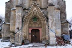 耶稣的假定心脏的教会在切尔诺夫策,乌克兰 库存照片