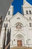耶稣的心脏的庄严白色教会在Slobodka,白俄罗斯 库存图片