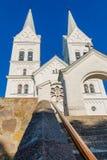 耶稣的心脏的庄严白色教会在Slobodka,白俄罗斯 图库摄影