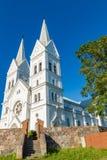 耶稣的心脏的庄严白色教会在Slobodka,白俄罗斯 免版税库存图片