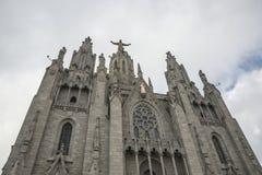 耶稣的神圣的心脏的教会在巴塞罗那在西班牙 免版税库存图片
