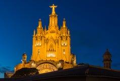 耶稣的神圣的心脏的教会在巴塞罗那 免版税库存照片