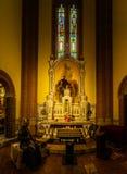 耶稣的耶稣圣心教会在波隆纳,意大利 库存照片