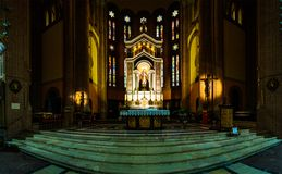耶稣的耶稣圣心教会在波隆纳,意大利 库存图片