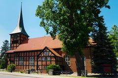 耶稣的耶稣圣心的教会在Stegna,波兰 免版税库存图片