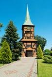 耶稣的耶稣圣心的教会在Stegna,波兰 免版税图库摄影