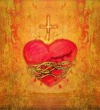 耶稣的神圣的心脏 向量例证