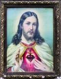 耶稣的颜色老照片 免版税库存照片