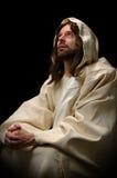 耶稣祈祷 免版税库存照片