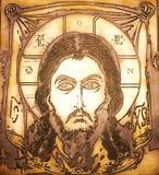 耶稣纵向 免版税库存图片