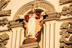耶稣耶稣圣心在蒙特雷大教堂里 免版税图库摄影