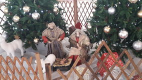耶稣诞生创造性的圣诞节装饰 免版税图库摄影