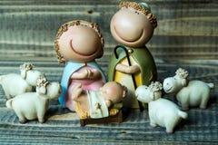 耶稣诞生场面 库存照片