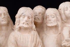 耶稣雕塑 库存图片