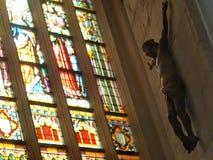耶稣雕塑 图库摄影