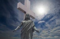 耶稣雕塑 免版税库存图片