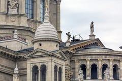 耶稣雕象圣徒斯蒂芬斯大教堂布达佩斯匈牙利 图库摄影