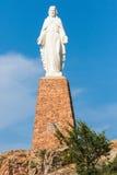 耶稣雕象在圣城 免版税库存照片